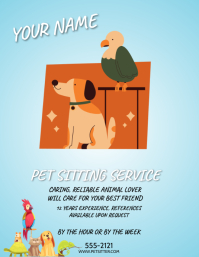 PET SITTING SERVICES Volantino (US Letter) template