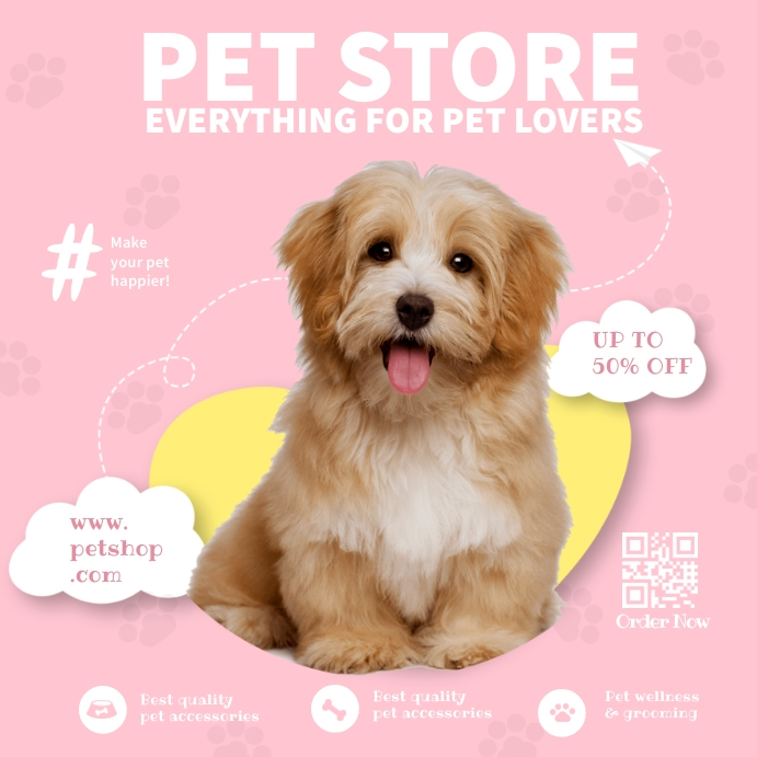 Pet Store Ads Square (1:1) template