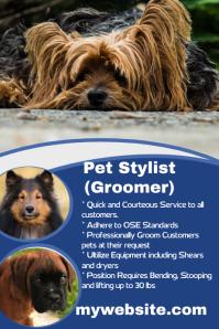 Pet stylist hiring poster
