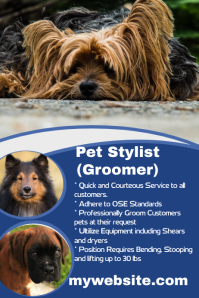 Pet stylist hiring poster