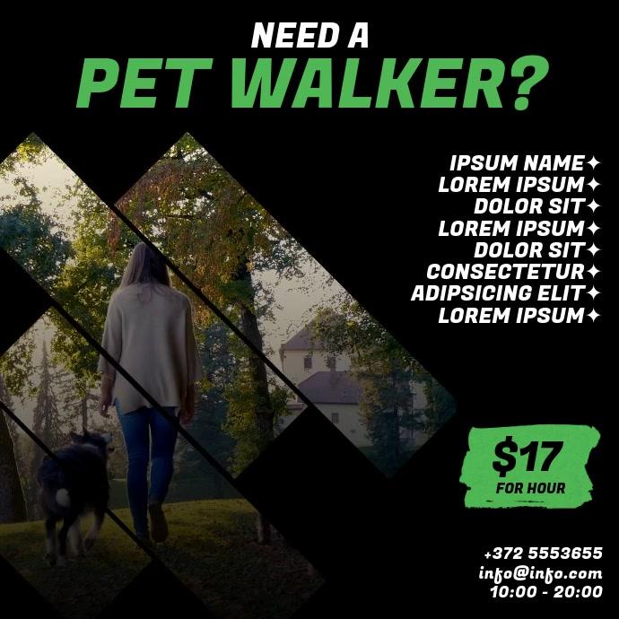 Pet Walker Video Ad template