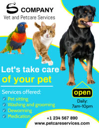 Petcare services Flyer (format US Letter) template