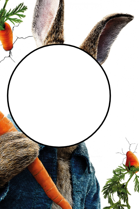 Peter Rabbit Party Prop Frame Template   PosterMyWall