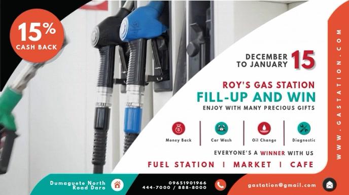 Petrol Pump Free Fuel Digital Advertisement