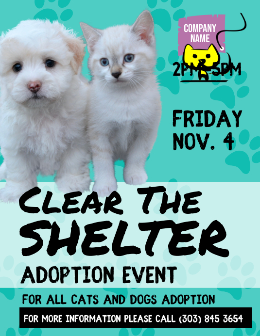 Pets Adoption Event Flyer Template Postermywall