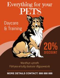 pets Рекламная листовка (US Letter) template
