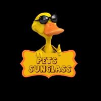 Pets Sunglasses Shop Logo template