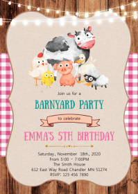 petting zoo birthday party invitation