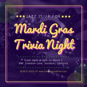 photo relating to Mardi Gras Trivia Quiz Printable identified as Develop Mardi Gras Flyers Within just Minutes! PosterMyWall