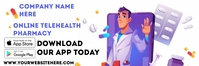 Pharmacy App Spanduk 2' × 6' template