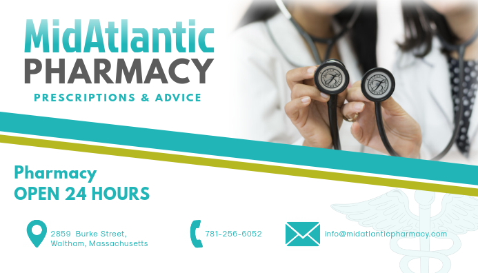 pharmacy business card design template