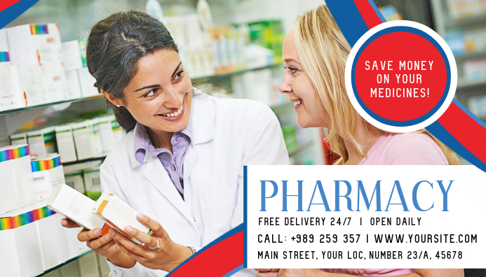 Pharmacy Business Card Template Postermywall