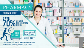 Pharmacy Business Card Landscape