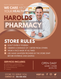 Pharmacy Covid-19 Warning and Safety Advice F