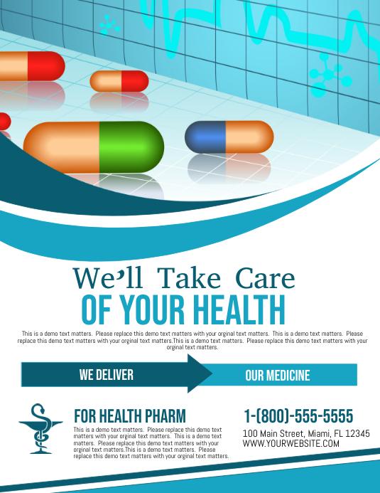 Pharmacy Pamflet (Letter AS) template