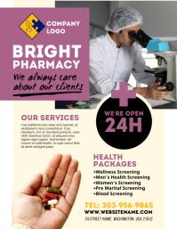 Pharmacy Drug Store Flyer Volante (Carta US) template