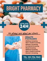 Pharmacy Drug Store Flyer template