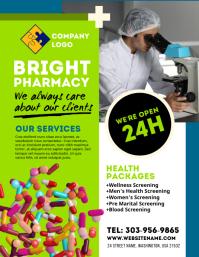 Pharmacy Drug Store Flyer Iflaya (Incwadi ye-US) template