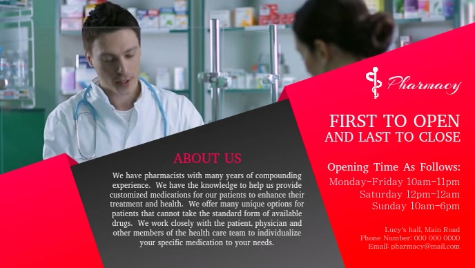 Pharmacy Facebook Cover Video template