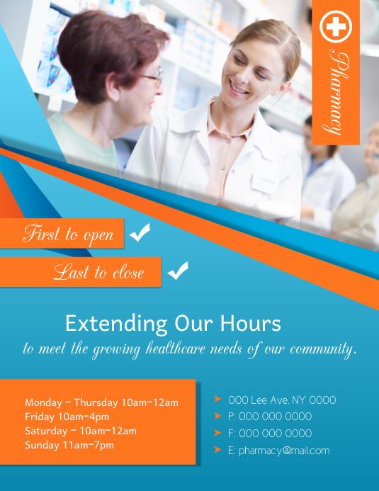 Pharmacy Hours Flyer