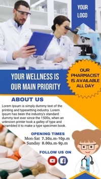 Pharmacy Poster Digital Display (9:16) template
