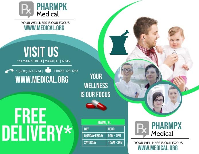 Pharmacy Tri-Fold Pamflet (Letter AS) template