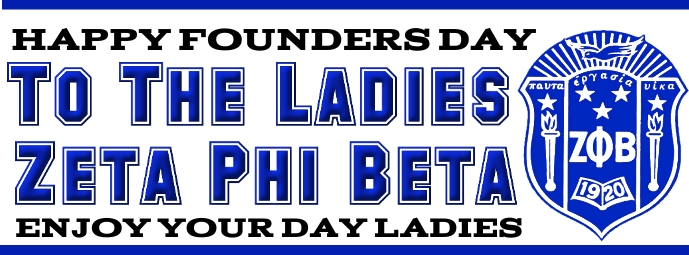 Zeta phi beta sorority founders day Facebook 封面图片 template