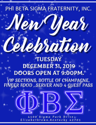 phi beta sigma new year Flyer (US Letter) template