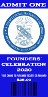 Phi beta sigma founders day event Ticket Roll Up na Banner 3' × 6' template