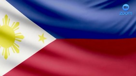 Philipines Flag Zoom Video Conference Backgro Pagtatanghal (16:9) template