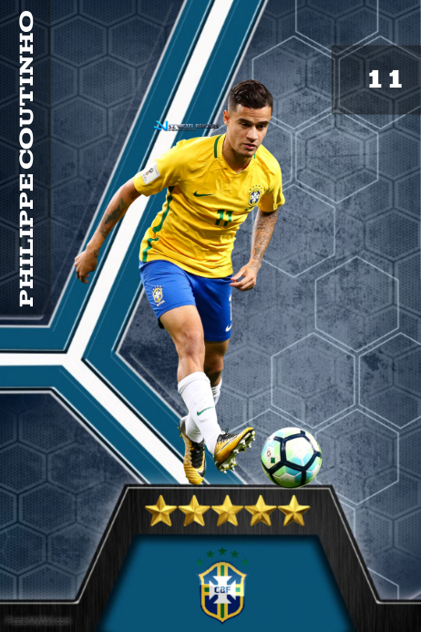 Philippe Coutinho Poster template