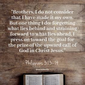 Philippians 3:13–14 - Quote, Life