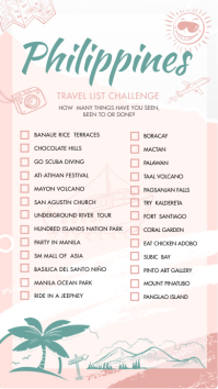 Philippines Travel List Checklist Instagram S