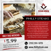 Philly Steak Ad Instagram Image template