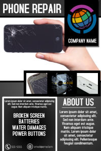 phone repair service business flyer template