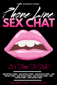 phone Line Sex Chat Poster