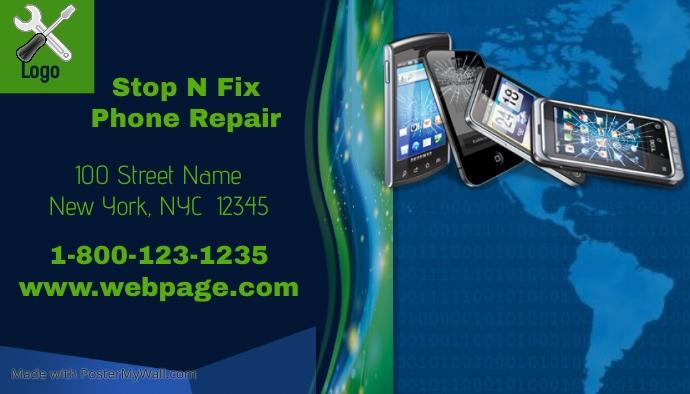 phone repair business card