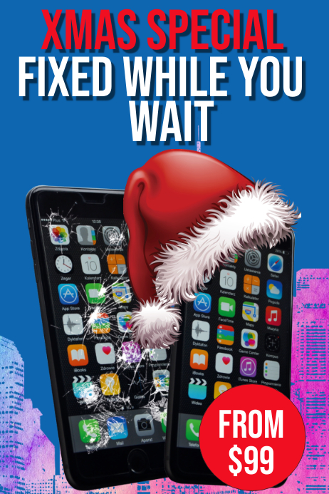 Phone Repair Poster template
