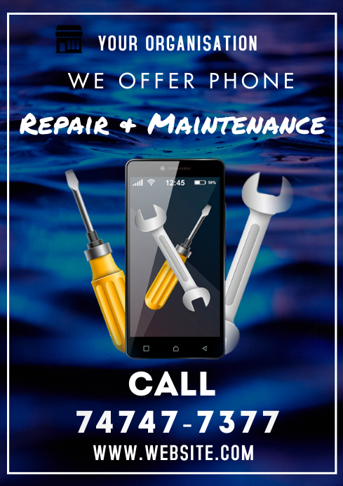 Phone Repair Flyers A3 template