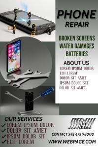 phone repair poster Affiche template