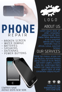 phone repair service business company flyer template