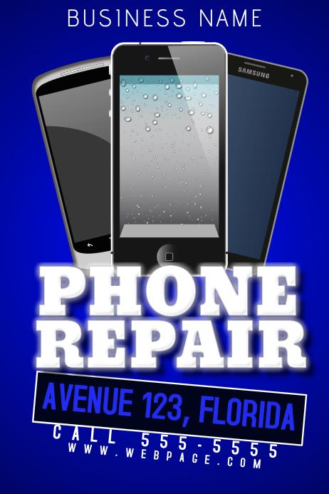 phone repair service business flyer template