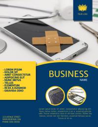 Phone repair service flyer template