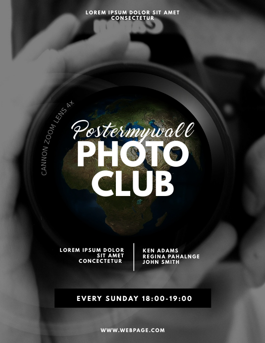 Photo Club Flyer Design Template