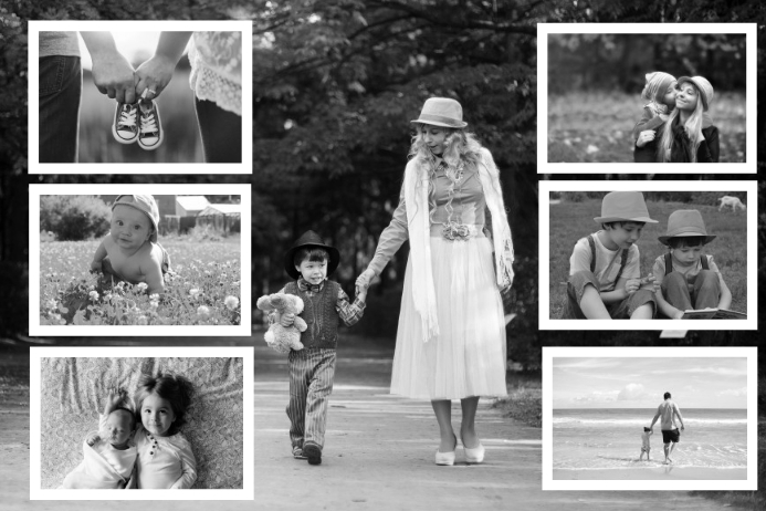 Photo frame collage poster print Template | PosterMyWall