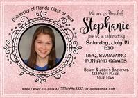 Photo Graduation Postcard for Girl Postal template