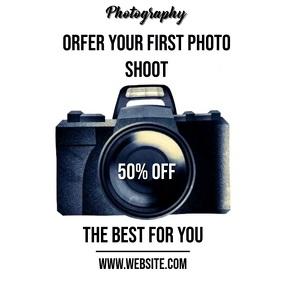 photo shoot ad advert SOCIAL MEDIA TEMPLATE Quadrato (1:1)