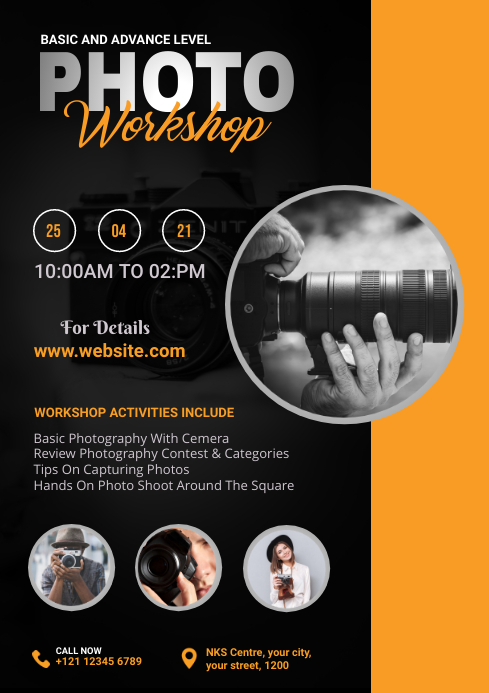 Photo Workshop Flyer A4 template