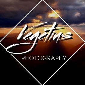 Photograph and artistic signature logo Логотип template