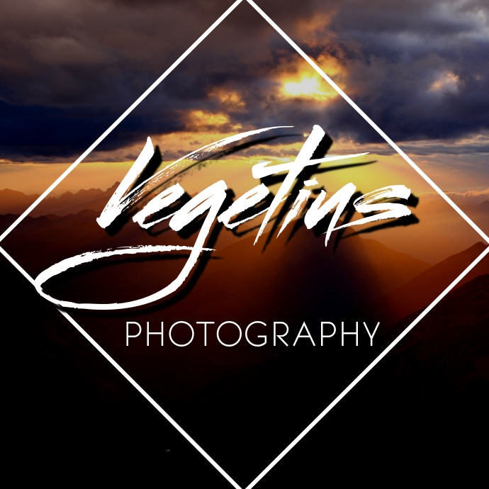 Photograph and artistic signature logo